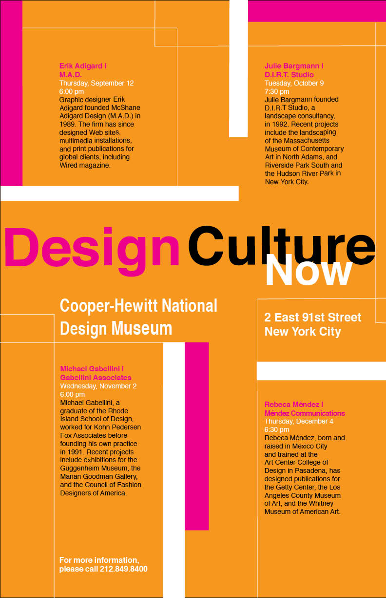 Poster design class 12 - Design Culture Now Poster